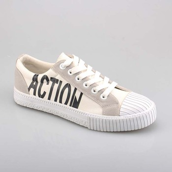 Custom Black White Canvas Casual Shoe