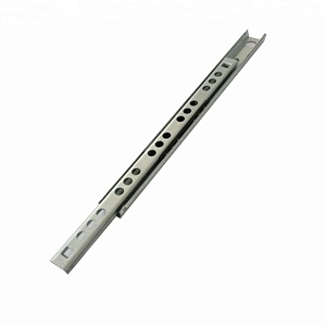 Free Sample 200Mm Drawer Runners Two Fold Telescopic Rail