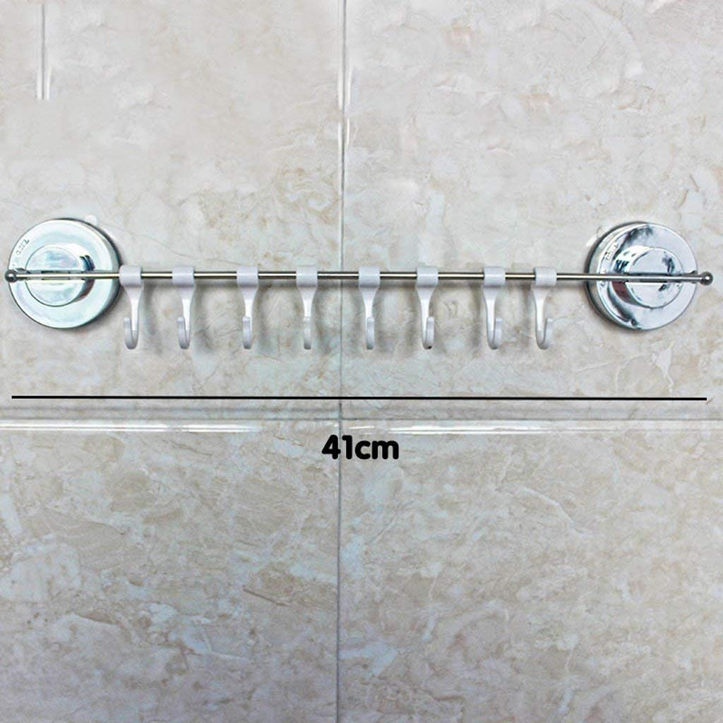 EQEQ Uus Towel Holder Bore - Free Distribution Teats Hooks, Strong A Kitchen - Free Nail Towel Rack Bathroom Towel to Suspend. Pole (Color (B)