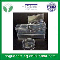 Rigid clear plastic boxes