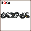 New arrival polyester beaded lace design with lots of stone For making dress