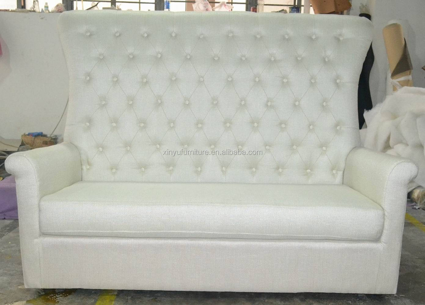 White Linen High Back Wedding Sofa Xyn75 Buy White Linen High