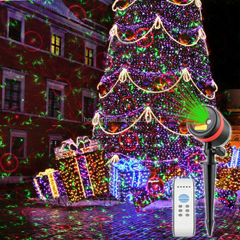 outdoor motion sensor light rgb christmas projector lights remote control fireworks firing system