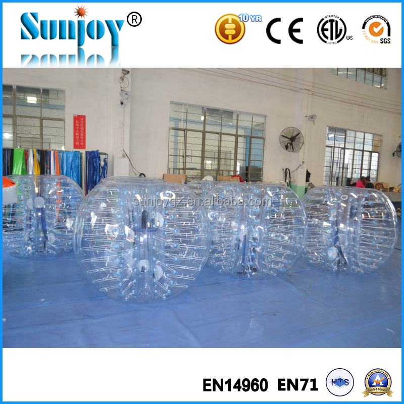 CE approved Dia 1.2m 1.5m 1.7m bubble soccer ball, human balloon inflatable life size balls, bumper bubble inflatable ball