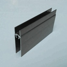 factory direct sale best selling aluminum H profile anodized champagne for kitchen cabinet wardrobe