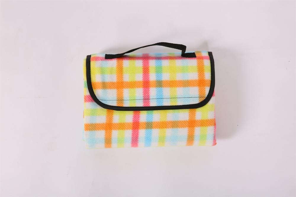 WATERPROOF PRINTED FLECE POLDABLE PORTABLE OUTDOOR PICNIC BLANKET