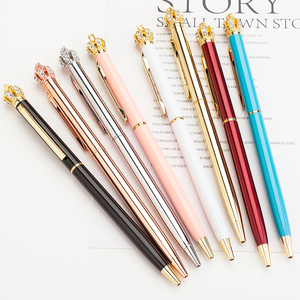 Xinghao Brand 2018 New Design Pretty Beautiful Lady Ball Pen Slim Crown Pen