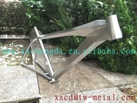 titanium time trial bike frame custom titanium TT bike with taper head tube Titanium bike frame with Inner line routing