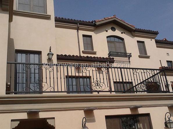 Villa house design elegant wrought iron modern balcony for Balcony designs in pakistan