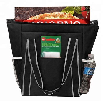 Customized Insulated Pizza Thermal Fast Food Delivery Cooler Bag