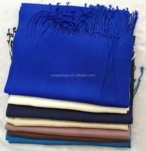 China gold supplier bulk production cheap thai hot sold elegant womens pashmin dress clothing wrap plain solid color rayon scarf