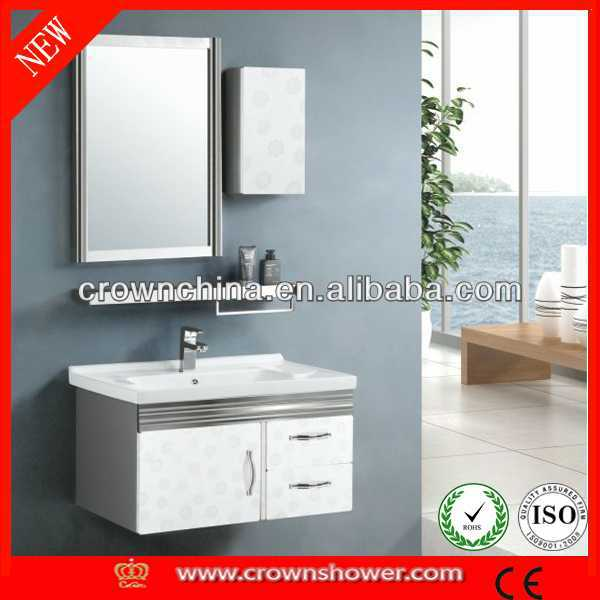 stainless steel bathroom cabinet,bathroom vanity cheapest sanitary ware wooden hotel bathroom furniture