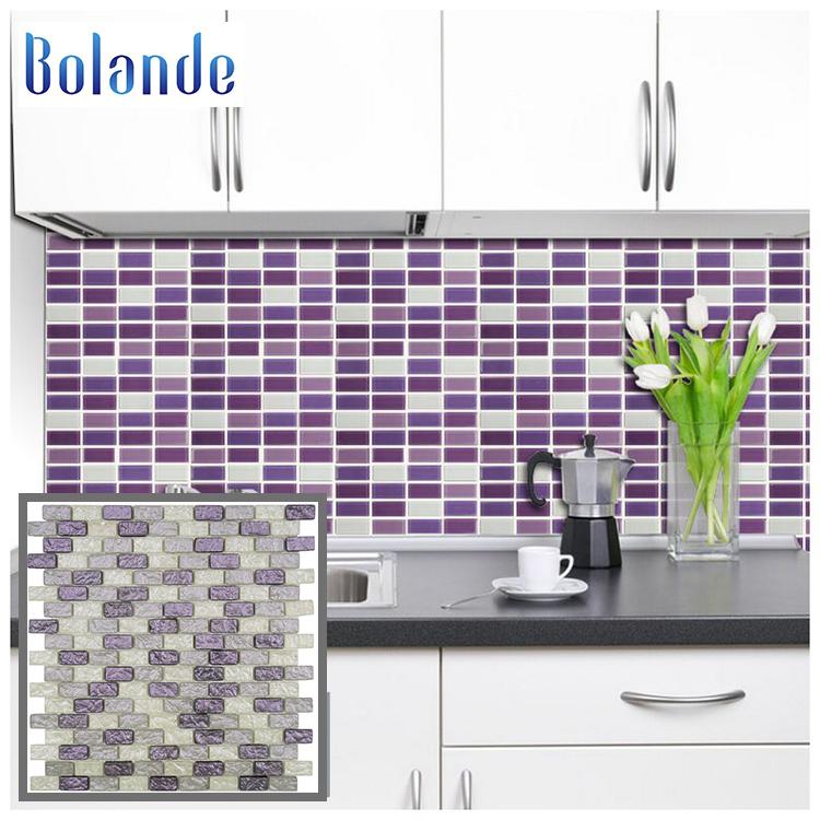 Kitchen Backsplash Wall Mosaics Decoration 300x300mm Art Purple Mix White Crystal Glass Mosaic Tile In Arabesque Buy Kitchen Backsplack Tile Ceramic Subway Mosaic Brick Subway Mosaic Product On Alibaba Com