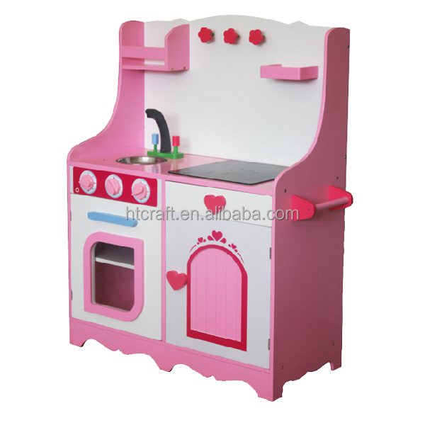113 100 32cm refrigerator and cabinets wooden play kitchen for Kitchen set for 1 year old
