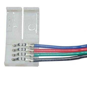 Flexible Led Strip Connector 4 Pin Rgb Led Strip Connector Small 4 Pin  Connector Types For Led - Buy 4 Pin Connectors,Small 4 Pin Connector  Types,4