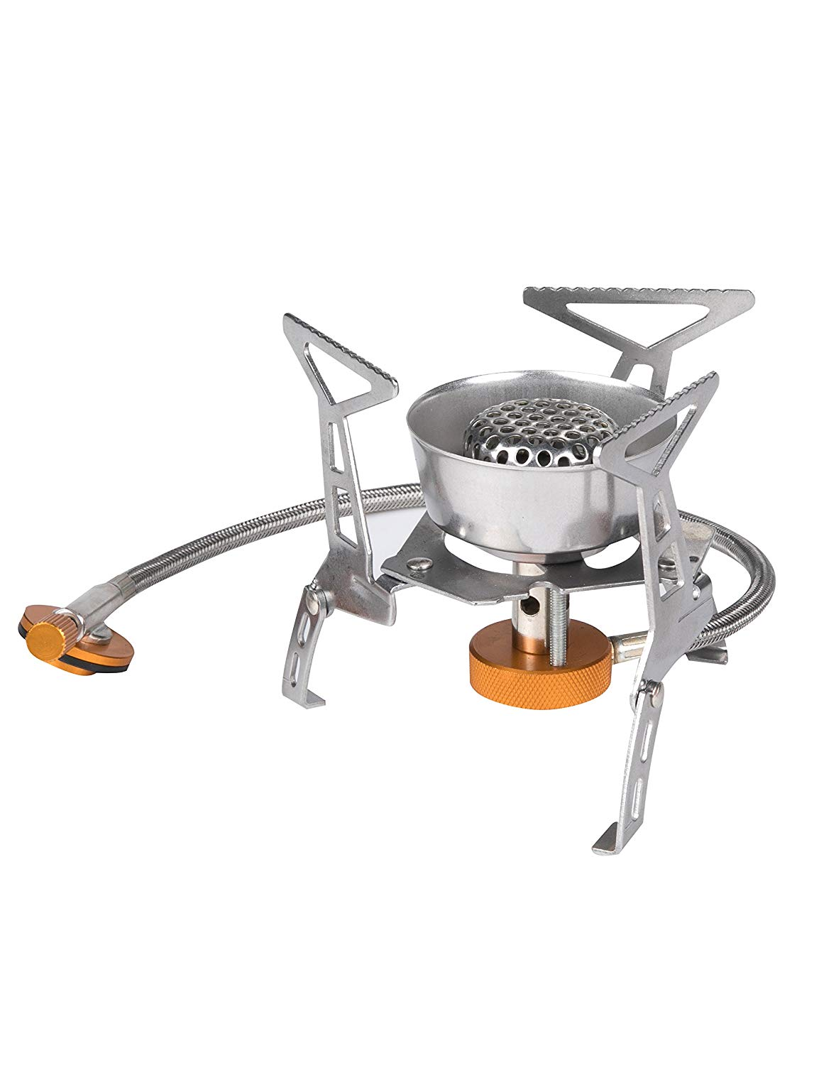EL INDIO Portable Camping Gas Stove with Piezo Ignition Foldable Lightweight Backpacking Stove with Carrying Case 3200W