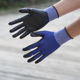 NMSAFETY EN388 navy blue nylon liner palm coated black PU protective gloves good quality