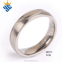 Simple Style Silver Color Stainless Steel Ring Best Quality Large Production Customized Plated Men Jewelry