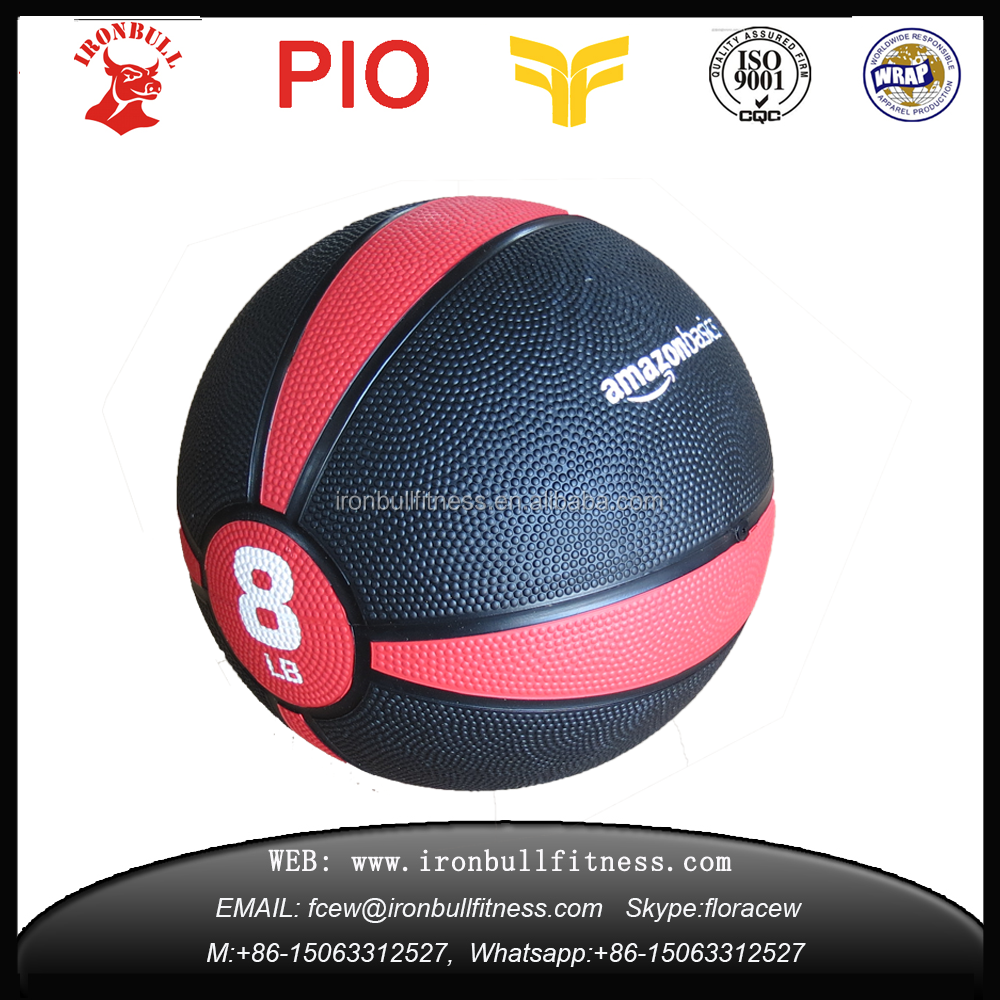 Popular customerized Wholesale a variety of color Fitness Equipment Rubber Medicine <strong>Ball</strong>