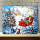 Christmas crafts art diy oil painting by numbers kits made by hand,wall arts oil painting by numbers