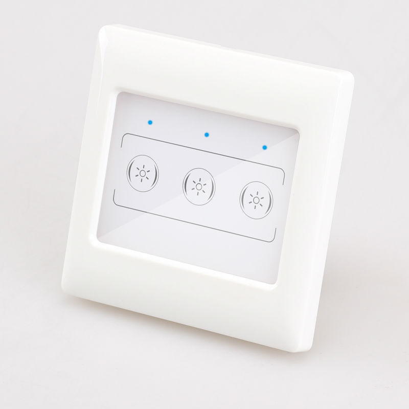 home automation touch screen controller with glass panel