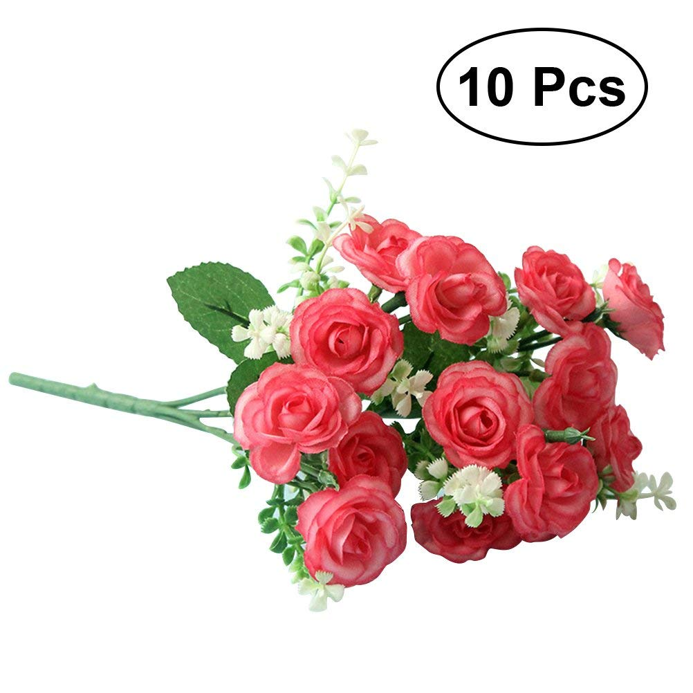 Buy Lovely Single Stem Red Rose Silk Flowers Simulation Flowers