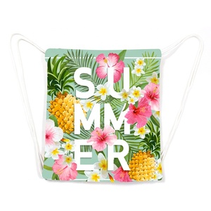 Customize Cute Pineapple Pattern Microfiber Cotton Printed Folding Beach Towel Bag For Beach