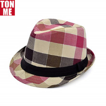 Direct Fabriek Premium Multi Kleur Plaid Gestikt <span class=keywords><strong>Band</strong></span> Fedora Hoed