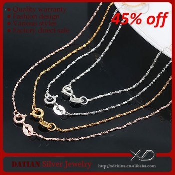 XD Y023 Factory Direct Sale 925 sterling silver necklaces Fashion Girls Necklace