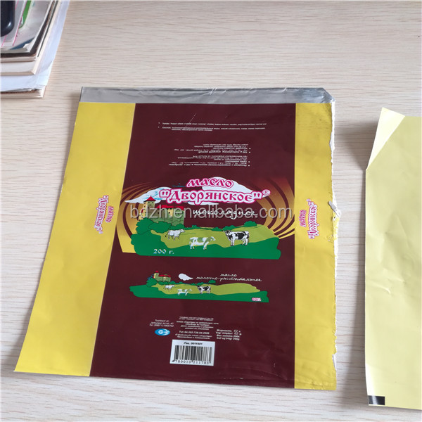 MANUFACTURER Laminated Aluminium Foil cheese wrapper butter wrapper