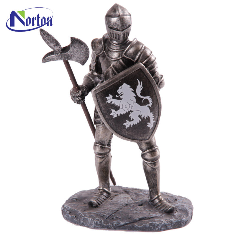 Square decor life size bronze knight sculpture for sale NTBM-238A