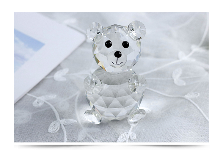 Little Bear Animal Furnishing Articles Crystal Carving Decoration Arts Crafts