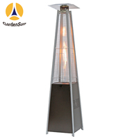 Outdoor infrared glass tube gas heater quadrilateral glass tube gas heater black,CE GARDENSUN 13000W with CE AGA ISO