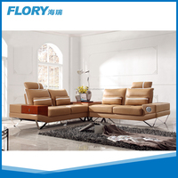 New technical design black leather furniture sofa set with iphone controller F1358