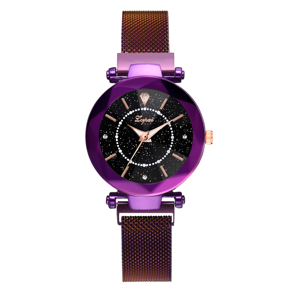 Imported From Abroad New Fashion Watch Men Women Star And Sky Pattern Rhinestone Casual Quartz Watch Lady Popular Steel Strap Elegant Wristwatches Watches