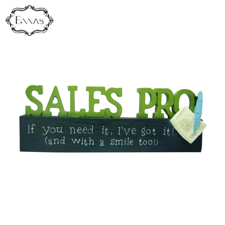 Chinese suppliers sales pro plaque company staff desk work card