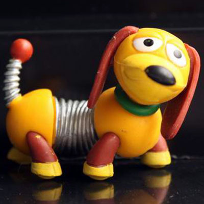 Original Toy Story Cute Slinky Dog Animal Puppy Action Figure Toy Doll DIY Material Home Decoration Gift Collection