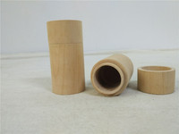 25ml round and rectangular wooden one bottle essential oil boxes