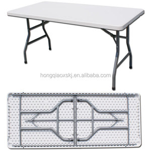 Use in graden patio outdoor table/6ft 183cm length HDPE blow mold craft table for outdoor