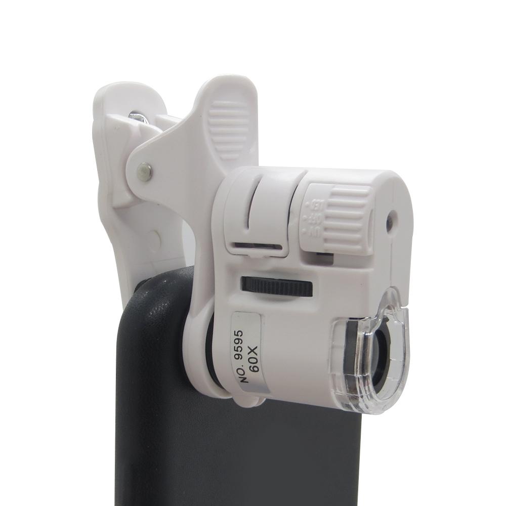 60X Zoom Smart Phone Camera Optical LED UV Light Magnifier Microscope Micro Lens