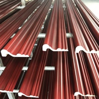 white gold and burgundy wood grain pop moulding from Chinese supplier, wholesale new pop moulding decoration
