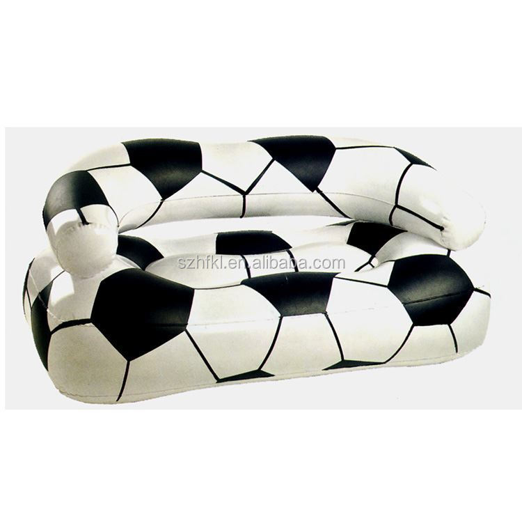 customized inflatable soccer lounge sofa with backrest