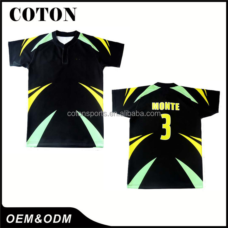 Comfortable new design cheap steelers rugby jersey Support OEM