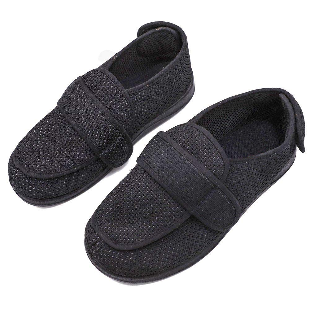 ad0de00ba3a BIZAR Men s Breathable Mesh Edema Slippers Orthodic Clinic Shoes Diabetes  Extra Wide Width Feet Flat Shoes