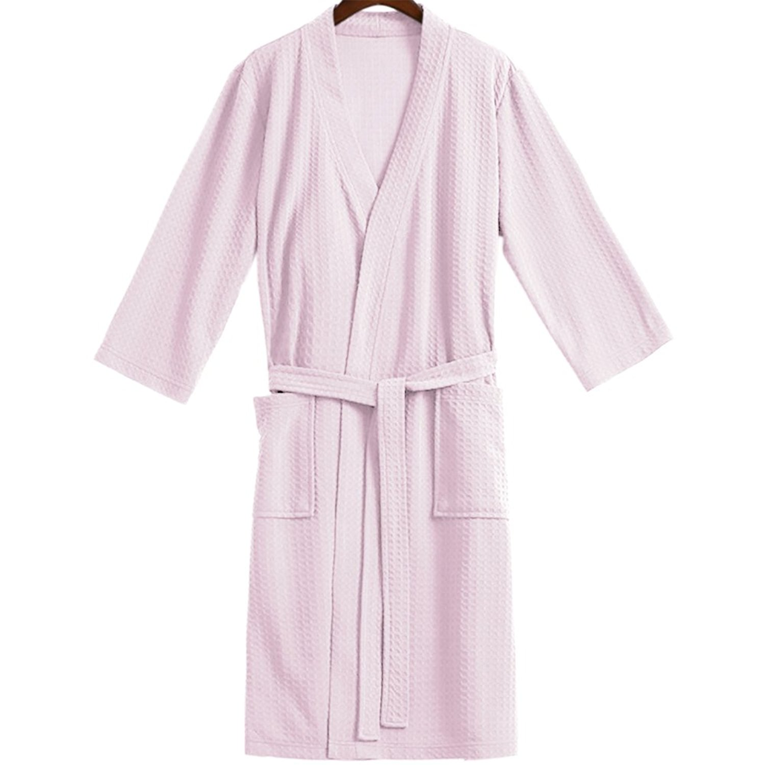 0eb5c1de95 Get Quotations · Opromo Adults Unisex Kimono Waffle Hotel Bathrobe Spa Robes  for Men and Women