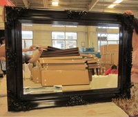 Classic wood mirror frame