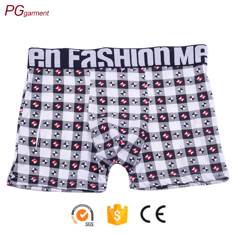 wholesale boxer shorts mens underwear with logo 100% cotton male breathable manufacturing briefs mens underwear