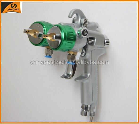 2015 ningbo very popular concrete metallic color pigments double nozzle spray gun