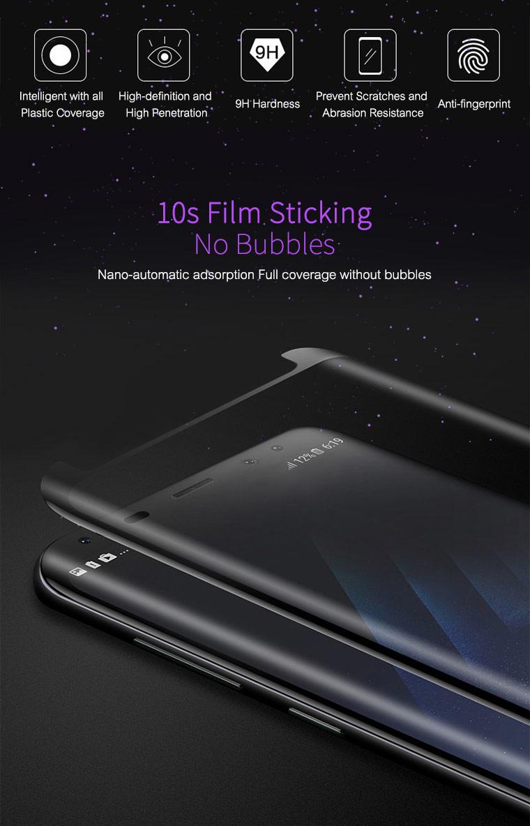 Premium 3D großer gekrümmter Rand Vollkleber aus gehärtetem Glas für Samsung Galaxy S7 S8 S9 S10 plus Hinweis 8 9