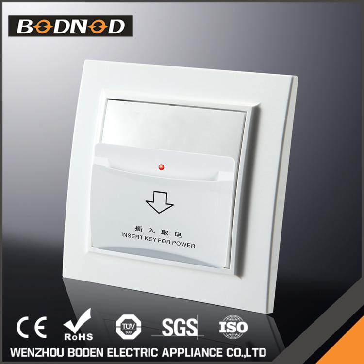 Modern Electric European hotel wall key card switch price
